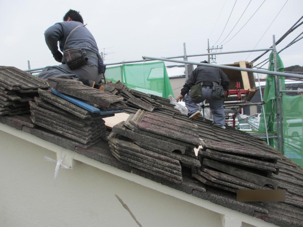 屋根葺き替え2ビフォー