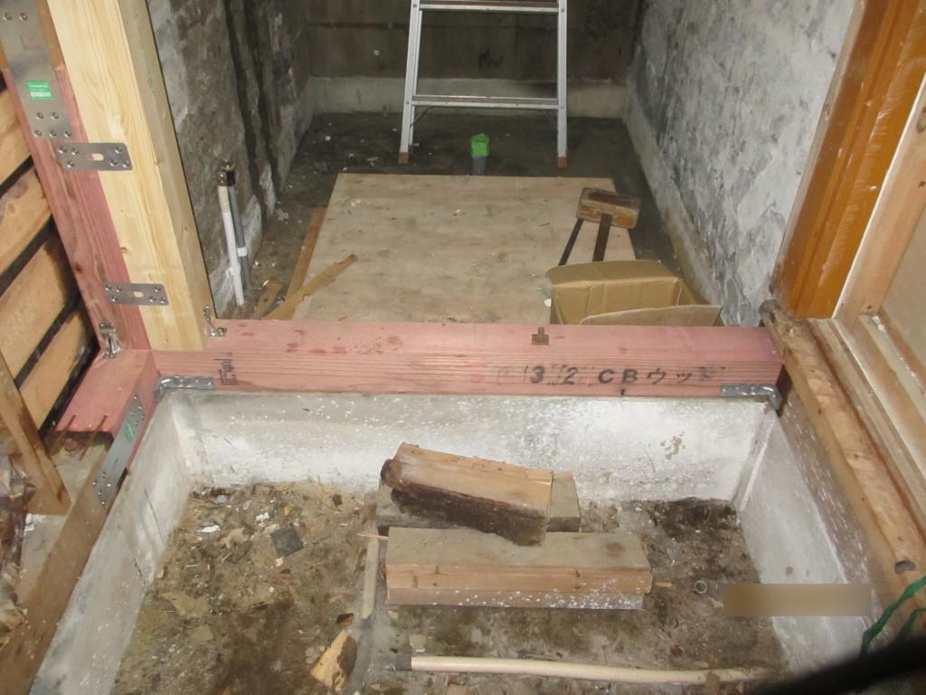 浴室改修2アフター腐ってる土台を交換